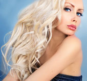 Beautiful woman with blue eyes Royalty Free Stock Photo