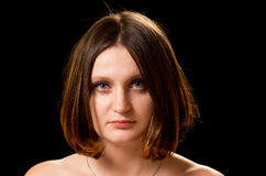 Beautiful woman with bob haircut Stock Photography