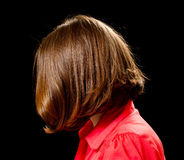 Beautiful woman with bob haircut Royalty Free Stock Images
