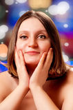 Beautiful woman with bob haircut Royalty Free Stock Photography