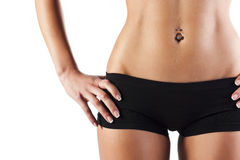 Free Beautiful Woman Body, In Black Cotton Underwear Royalty Free Stock Photo - 25530595