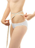 Beautiful woman body measure Stock Image