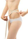 Beautiful woman body measure stock image