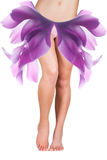 Beautiful woman body with petals  on her hips Royalty Free Stock Images