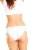 Beautiful woman body in white cotton underwear Stock Photo