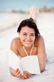 Beautiful woman with a book Royalty Free Stock Images