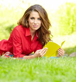 Beautiful woman  with book Royalty Free Stock Photo