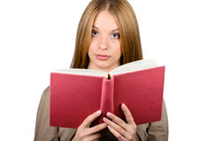 Beautiful woman with a book Royalty Free Stock Image