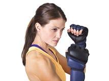Beautiful Woman boxing and fitness training Stock Image
