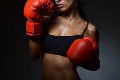 Beautiful woman boxing Stock Photos