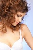 Beautiful woman in bra Stock Images
