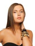 Beautiful woman with bracelets Royalty Free Stock Photo