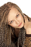 Beautiful woman with braids Stock Images