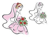 Beautiful woman in bridal dress Stock Photography