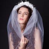 Beautiful Woman in Bridal Veil Royalty Free Stock Photo