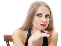 Beautiful woman with bright evening make-up Stock Photos