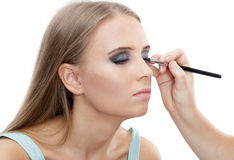 Beautiful woman with bright make-up Stock Image