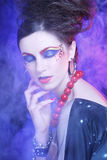 Beautiful woman with bright make up Royalty Free Stock Images