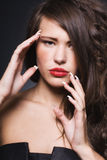 beautiful woman with bright makeup Royalty Free Stock Images