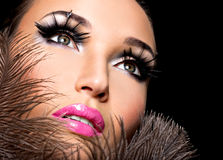 Beautiful woman with bright professional make-up Royalty Free Stock Photo