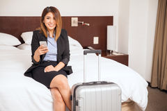 Beautiful woman on a business trip Royalty Free Stock Photo