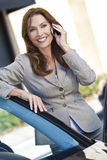 Beautiful Woman Businesswoman On Her Cell Phone Stock Photo
