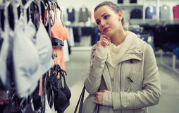 Beautiful woman buying clothes Stock Photography