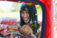 Beautiful woman in cabriolet car Royalty Free Stock Photos