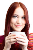 Beautiful woman  in cafe Stock Photos