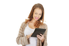 Beautiful woman with calculator. Stock Photography