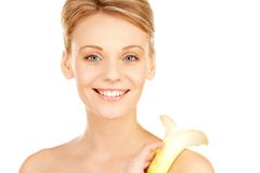 Beautiful woman with calla flower Royalty Free Stock Photography