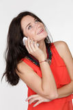 Beautiful woman calling by phone Royalty Free Stock Photo