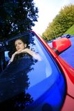 Beautiful woman in car Royalty Free Stock Images