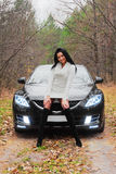 Beautiful woman and car Royalty Free Stock Images
