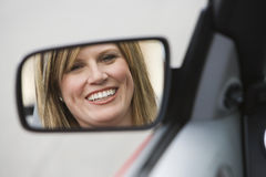 Beautiful Woman In Car Stock Image