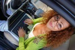 Beautiful woman in car Royalty Free Stock Photos