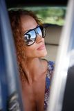 Beautiful woman in car Royalty Free Stock Photo