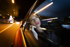 Beautiful Woman in car Royalty Free Stock Photography