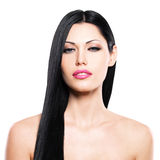 Beautiful woman cares of the skin face royalty free stock image