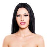 Beautiful woman cares of the skin face Royalty Free Stock Photos