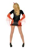 Beautiful woman in carnival costume of devil. Royalty Free Stock Photography