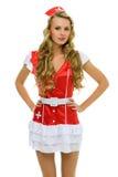 Beautiful woman in carnival costume. Nurse shape. Stock Images