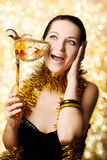 Beautiful woman with carnival mask Royalty Free Stock Photography