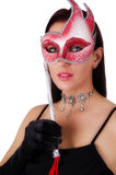 Beautiful woman with carnival mask Stock Images