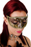 Beautiful woman in carnival mask. Royalty Free Stock Image