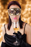Beautiful woman in carnival mask Royalty Free Stock Photo