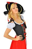 Beautiful woman in carnival  pirate costume. Stock Photography