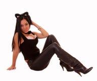 Beautiful woman cat Royalty Free Stock Photos