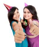 Beautiful woman celebrate birthday Stock Images