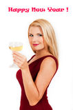 Beautiful woman celebrating new year Stock Image